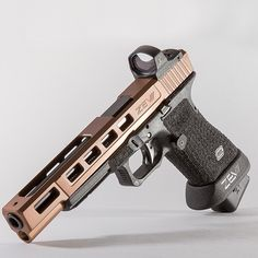 Custom Glock 17L ZevTech Dragonfly in bronze with Leupold optic