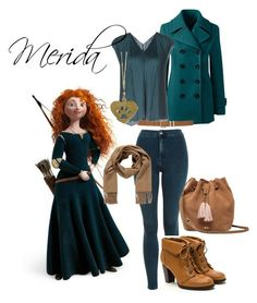 """""""Merida _ Disney"""" by stefani-dreams on Polyvore featuring beauty, Lands' End, Topshop, Pleats Please by Issey Miyake, M&Co, Zad, Hermès and UGG"""