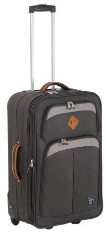 Denim Fabric, New Adventures, Lady, Suitcase, Corner, Handle, Cases, Pockets, Button