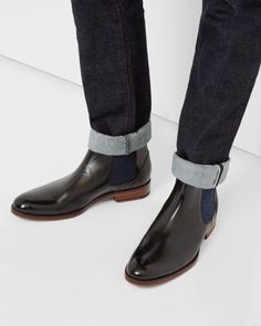 Leather Chelsea boots - Black | Shoes | Ted Baker