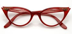 Vintage Red Rx Optional Cat Eye Glasses 8434ZU...I wish these were black or brown