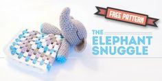 Crochet elephant snuggle