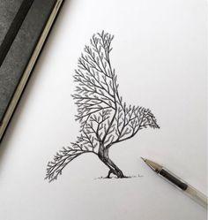 Ley de ambigüedad: puesto que dependiendo en dónde nos fijemos podemos ver o un pájaro o un árbol