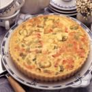 Leek and Canadian Bacon Quiche | - will try crustless and with shallots , green onion Williams Sonoma
