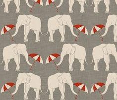 elephants and umbrellas spoonflower fabrics