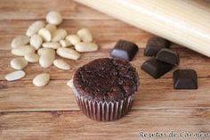 "rezetas de carmen: Magdalenas de chocolate y almendras estilo ""tarta caprese"""
