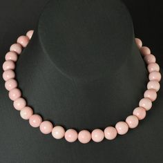 Giant Caribbean QUEEN CONCH SHELL Strand Natural Pink Round Beads Bahamas 12mm