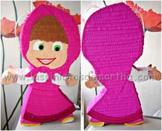 Muñeca Masha | Piñatas Personalizadas | Las Piñatas de Martha Masha Et Mishka, Diy Piñata, How To Make Pinata, Masha And The Bear, Bear Party, Bear Birthday, Ideas Para Fiestas, Paw Patrol, Party Themes