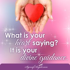 Most often in our fast busy day, we make decisions by listening to our thoughts. That is not were your true guidance comes from. Next time, spend some time listening to your heart.  Join our daily email list here http://ow.ly/Of44k