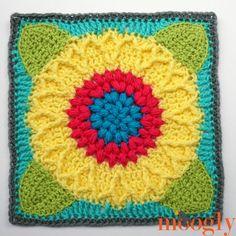 Ravelry: Sunflower Harvest Square pattern by Laurinda Reddig Crochet Blocks, Granny Square Crochet Pattern, Crochet Squares, Crochet Granny, Crochet Motif, Crochet Yarn, Crochet Patterns, Granny Squares, Granny Granny