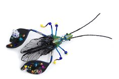 Waitress I – Pretty Wasp – artistic insect jewellery