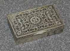 An Ottoman Silver and Enamel Snuff Box, Century, - Aug 2013 19th Century, Ottoman, Decorative Boxes, 21st, Enamel, Silver, Vitreous Enamel, Enamels, Decorative Storage Boxes