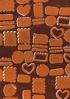 クッキーデイ Gingerbread Cookies, Cookie Cutters, Sweets, Desserts, Pink, Illustrators, Profile, Food, Kitchen
