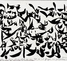 Christian Dotremont: Logogram, 1972, cobra Sans doute Extrait de Je crie donc je crée