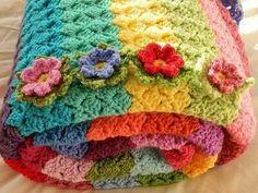 """Slanty shell stitch  """"pink fluffy warrior"""" blog"""