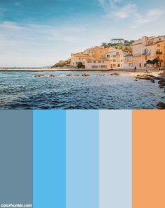 Pastel Colors In St-tropez Color Scheme