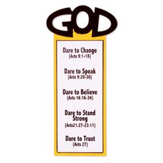 God Bible Verse Bookmark | Make bookmarks to use during your 2013 Colossal Coaster VBS week. Cut as many as you need with an AccuCut die.