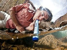 The LifeStraw Personal Water Filter makes almost any fresh water source safe to drink. It uses no battery and has no moving parts.