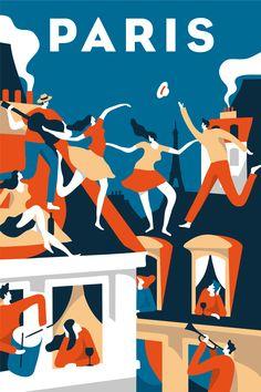 Ознакомьтесь с этим проектом @Behance: «Airbnb - Paris poster» https://www.behance.net/gallery/52198069/Airbnb-Paris-poster