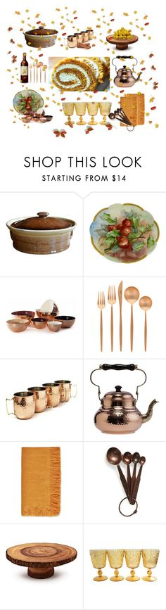 """""""PUMPKIN ROLL"""" by suninvirgo ❤ liked on Polyvore featuring interior, interiors, interior design, home, home decor, interior decorating, Hawkins, Cutipol, Old Dutch and L'Objet"""