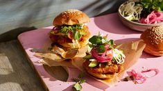 Pork schnitzel sandwich with roasted jalapenos and pickled onions (cemita milanesa de cerdo) recipe : SBS Food Burger Recipes, Pork Recipes, Mexican Food Recipes, Mexican Meals, Schnitzel Recipes, Pork Schnitzel, Mexican White Cheese, National Burger Day, Roasted Jalapeno