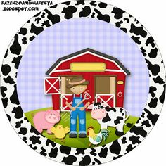 Little farm boy - Full Kit with frames for invitations, labels for goodies, souvenirs and pictures!   Making Our Party