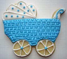 Flour Box Bakery — Blue Baby 'Basket' Carriage