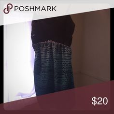 Dress Polyester/spandex top with small mesh cutouts on sides Dresses Mini