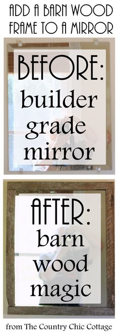 Barnwood Framed Bathroom Mirrors diy rustic mirror | farmhouse mirrors, rustic mirrors and half baths