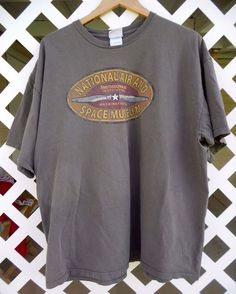 NATIONAL AIR SPACE MUSEUM Graphic T Shirt Men's Size 2 XL Short Sleeve Green #Smithsonian #GraphicTee Sold