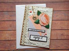 birthday card, blank handmade card, shabby chic card, friendship cards, friend card, greeting cards, homemade cards