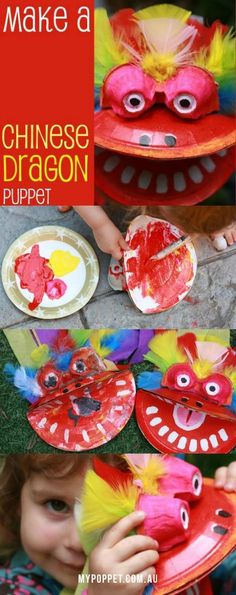 Kids Craft: Chinese New Year Dragon Puppet | My Poppet Makes