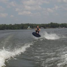 Kneeboarding at the lake house