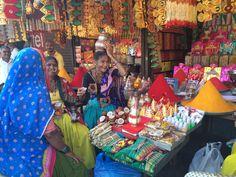 Colorful market puna, India