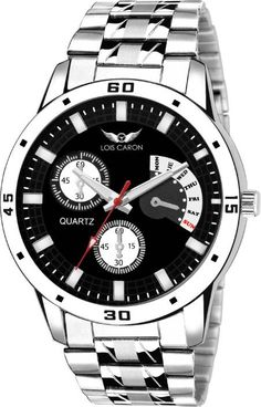fee80ab3382 Lois Caron Lcs-4048 Chronograph Pattern BLACK DAIL WRIST WATCHES Watch -  For Men