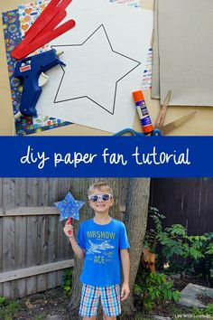 DIY Paper Fan Tutorial for Summer (Video) Diy Party Crafts, Cute Kids Crafts, Crafts For Teens, Diy For Kids, 3 Kids, Children, Baby Activities 1 Year, Indoor Activities For Toddlers, Preschool Activities