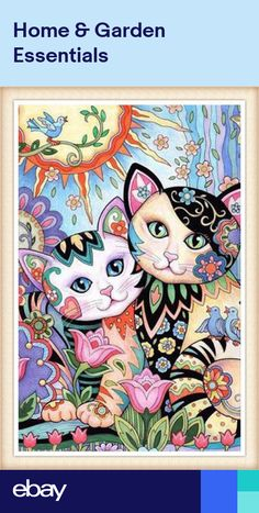 Best Friends – Art and coloring ©Marjorie SarnatCreative Haven ~ Creative Kittens ~ Marjorie Sarnat Design & Illustration Illustrator of best selling adult coloring books Creative Cats, Owls, and many more. Cat Embroidery, Illustration Art, Illustrations, Cat Colors, Arte Pop, Cat Drawing, Whimsical Art, Crazy Cats, Cat Art