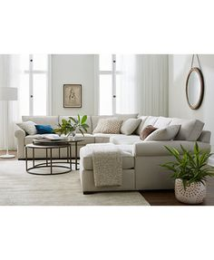 Astra Fabric Sectional Collection, Only at Macy's - Furniture - Macy's