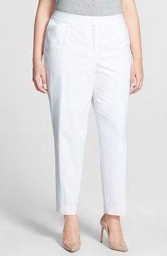 Sejour 'Scuba' Ankle Pants (Plus Size) available at #Nordstrom