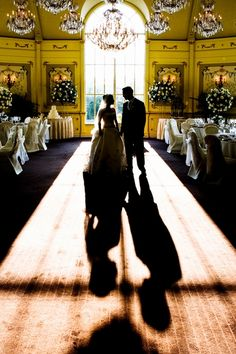 STUNNING silhouette bride and groom at the reception. So elegant! Bleu Studio Wedding Photography