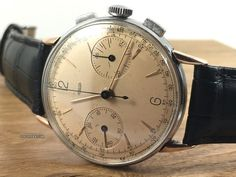 Jaeger-LeCoultre ad: £4,950 Jaeger-LeCoultre Steel & Rose Gold Chronograph Mechanical... Ref. No. 285; Gold/Steel; Manual winding; Condition 2 (fine); Year 1940s; Location: United King