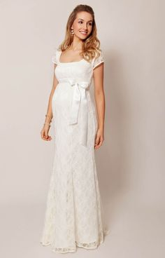 2e823ff7ef7 Eva Lace Gown. Eva Lace Maternity Wedding Gown (Cream) by Tiffany Rose
