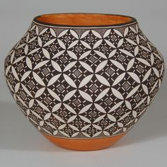 South West Black and White Patterns | Acoma Pueblo Black-on-white Diamond- or Kite-Design Jar [SOLD]