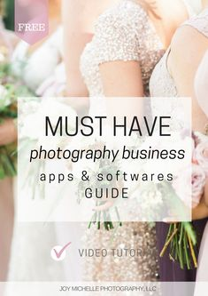 BEST apps and softwares for running a photography business