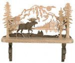 Moose Shelf Scroll Saw Pattern The scenic layered background of this moose - themed shelf makes a great addition to a sportsman's decor. #diy #woodcraftpatterns