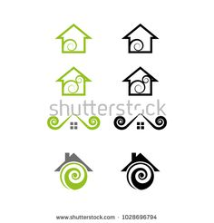 A set of house icons