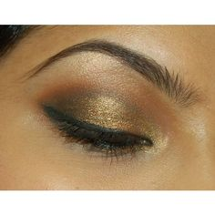 An Eye Makeup Addicts Blog Smokey gold, black, brown eye ❤ liked on Polyvore