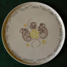 3 Mice Cheese Platter by Jean Colbear