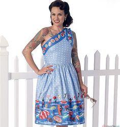 Butterick Sewing Pattern by Gertie - Vintage 1950s Style - B6323 Misses' One-Shoulder Dresses … WeaverDee.com