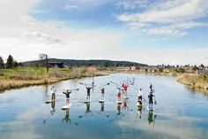 Paddle boarding the Deschutes River